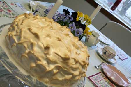 Janene Tindall's Lemon Meringue Cake