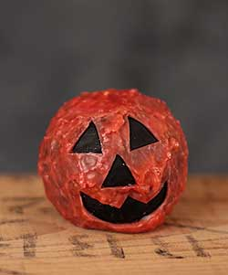 Pumpkin Face Ball Candle with Tealight