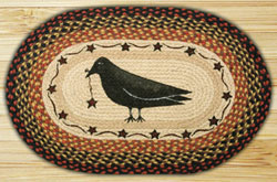 Crow and Star Braided Jute Rug