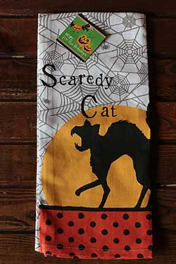 Scaredy Cat Tea Towel