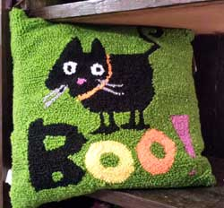 Boo Halloween Pillow - Cat