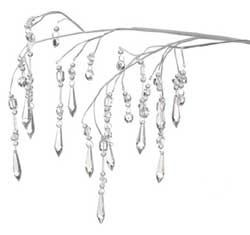 Cascading Crystal Branch - White