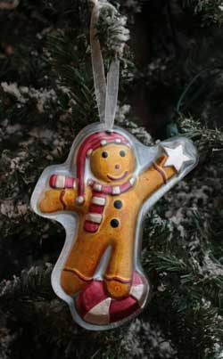 Home Christmas Ornament - Gingerbread with Star & Candy