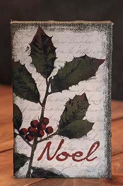 Noel Holiday Wishes Mini Canvas