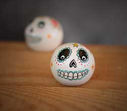 Sugar Skull Peg Doll