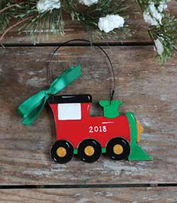 Train Personalized Ornament