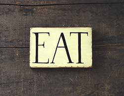 Eat Wood Sign (Custom Size/Color)