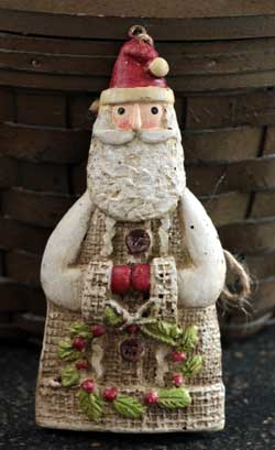 Glad Tidings Santa Ornament