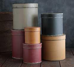 Primitive Round Stacking Boxes (Set of 6)