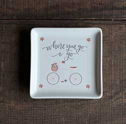 Where You Go Bicycle Trinket Dish