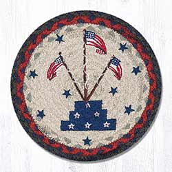 Flag Stand Braided Tablemat - Round (10 inch)