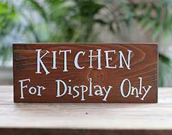 Kitchen For Display Only Rustic Wood Sign