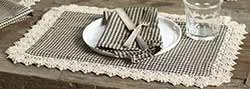 Ava Black Check Placemat