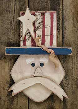 Rustic Uncle Sam Wall Decor
