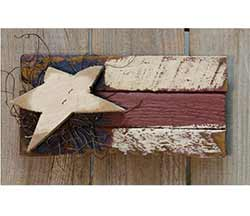 Small American Flag Rustic Sign