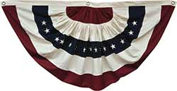 Large American Flag Bunting