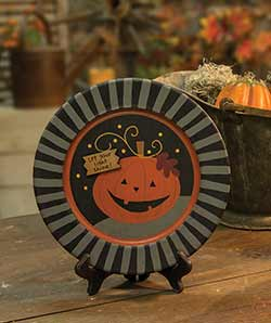 Let Your Light Shine Halloween Plate