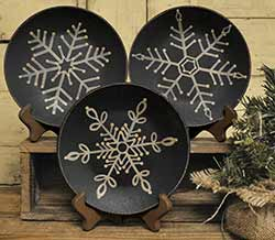 Primitive Snowflake Plates (Set of 3)