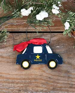 Police Car Ornament (Personalized)