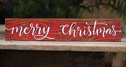 Merry Christmas Wood Sign - Script