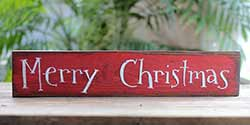 Merry Christmas Wood Sign