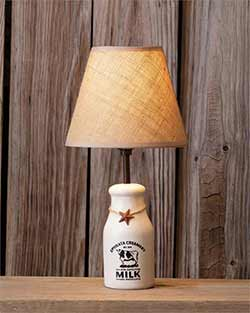 Milk Bottle Table Lamp with Shade
