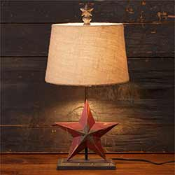 Star Table Lamp with Shade