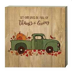 Thanks & Giving Vintage Truck Sign