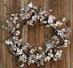 Cotton Ball 20 inch Wreath