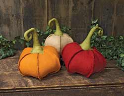 Medium Burlap Pumpkins (Set of 3)