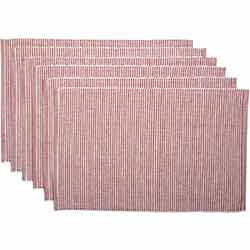 Ashton Rust Ribbed Placemats (Set of 6)