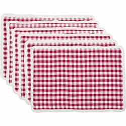 Emmie Red Placemats (Set of 6)