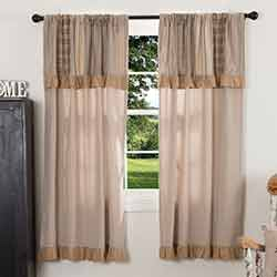 Sawyer Mill Charcoal Short Panel with Attached Patchwork Valance