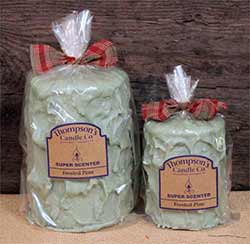 Frosted Pine Primitive Pillar Candle - Medium