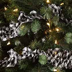 Emmie Black Check 9 foot Garland (Set of 3)