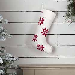 Emmie Red Patch 20 inch Stocking