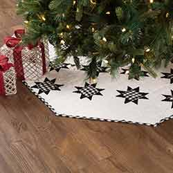 Emmie Black Patchwork 48 inch Tree Skirt