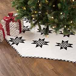 Emmie Black Patchwork 60 inch Tree Skirt