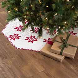 Emmie Red Patchwork 48 inch Tree Skirt