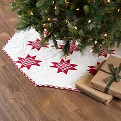 Emmie Red Patchwork 60 inch Tree Skirt
