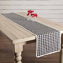 Emmie Black 72 inch Table Runner