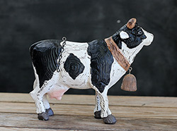 Black & White Cow with Bell Arrow Replacement