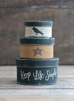 Keep Life Simple Mini Stacking Boxes (Set of 3)
