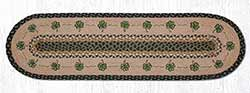 Shamrock Braided Table Runner - 48 inch