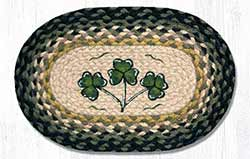 Shamrock Braided Oval Tablemat - Oval (10 x 15 inch)