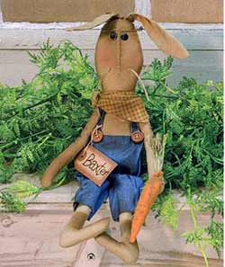 Primitive Bunny Boy with Carrot