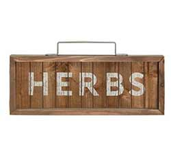 Herbs Framed Sign