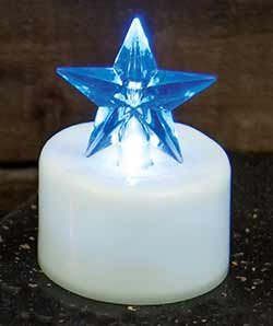 Blue Star Timer Tealight Candle