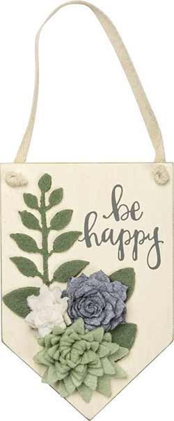 Be Happy Wall Hanging