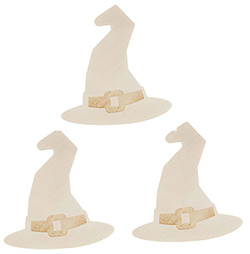Witch Hat Unfinished Wood Cutouts (Set of 3)